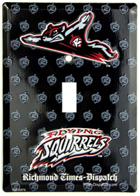 Custom Single Light Switch Covers made from recycled aluminum. Tin switch plates for sale.