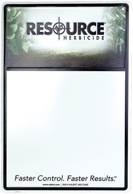 Custom white board inside aluminum frame.