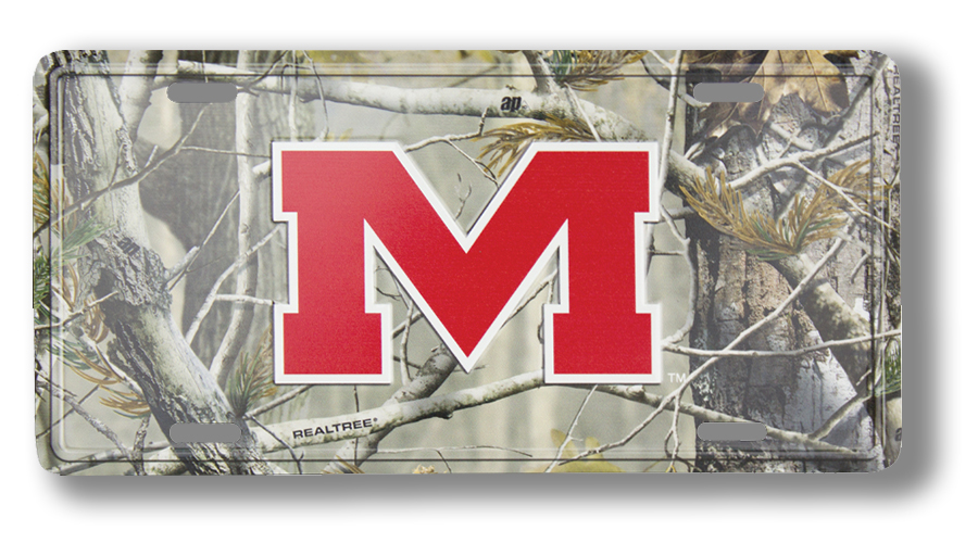 Michigan State License Plate with Camo Pattern