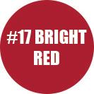 Bright red color.