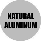Natural aluminum color.
