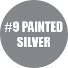 Standard painted silver color for personalized arrow signs.