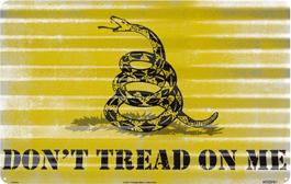 Custom Metal corrugated sign - Don't tread on me.