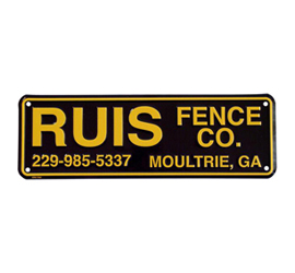 Rider Plates | Fence Signs